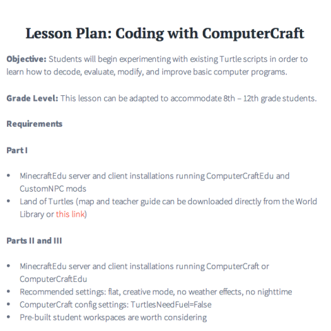 Coding Lesson Plan