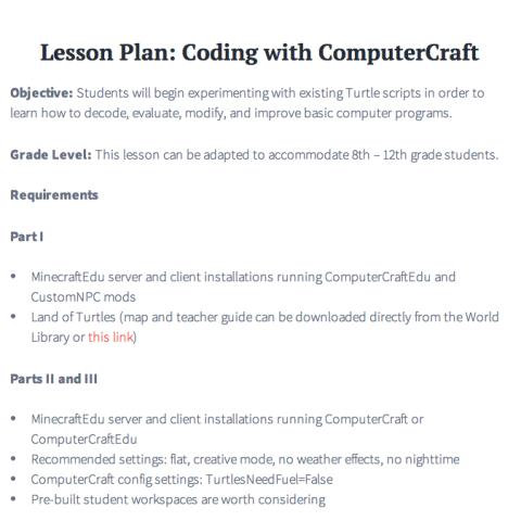 Coding Lesson Plan